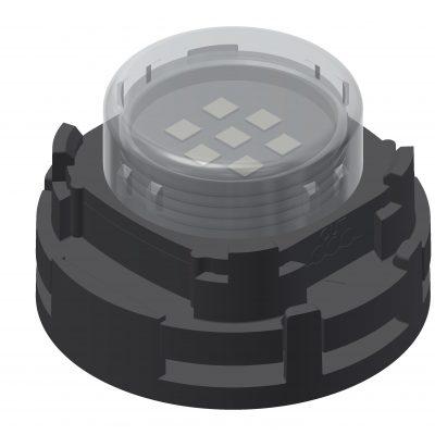 LED houder voor montage aan muur en/of montage op stalen net
