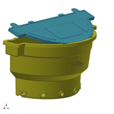 Calves bucket with lid