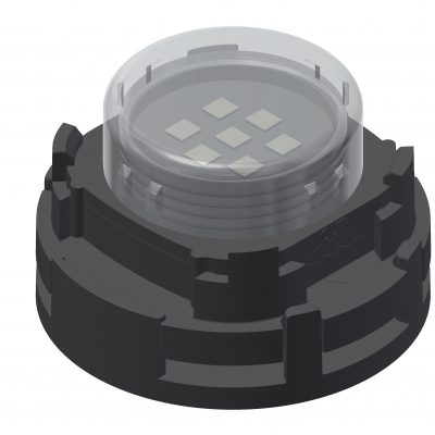LED holder, possible to mount to the wall and/or assembly on steel net