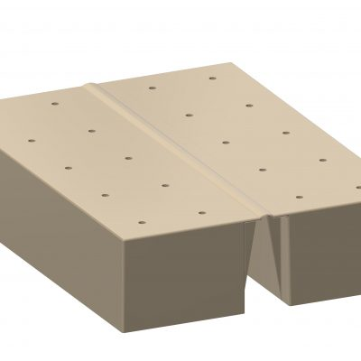 Filling tray with hinge